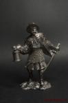 Силезский рыцарь 15 век. - Не крашенный оловянный солдатик. Высота 54 мм