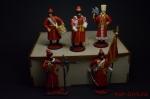 Набор оловянных солдатиков - Стрельцы в подарочной коробке - Набор оловянных солдатиков 5 шт. Высота солдатиков 54 мм.
