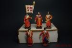 Набор оловянных солдатиков - Казаки в подарочной коробке - Набор оловянных солдатиков 5 шт. Высота солдатиков 54 мм.