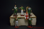 Набор оловянных солдатиков. Прусская армия 1805 год - Набор оловянных солдатиков 5 шт. Высота солдатиков 54 мм.