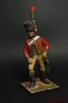 Трубач конных егерей Императорской Гвардии - Оловянный солдатик коллекционная роспись 54 мм. Все оловянные солдатики расписываются художником вручную