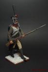 Регулярная пехота 1812-14 Рядовой во фронте по команде На руку - Оловянный солдатик коллекционная роспись 54 мм. Все оловянные солдатики расписываются художником вручную