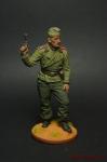 Унтер-офицер самоходной артиллерии Вермахта (Германия), 1941-42 - Оловянный солдатик коллекционная роспись 54 мм. Все оловянные солдатики расписываются художником вручную