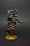 Индеец бегущий с булавой и пистолетом - Оловянный солдатик коллекционная роспись 54 мм. Все оловянные солдатики расписываются художником вручную