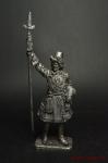 Офицер артиллерийской роты новоприборных полков - Не крашенный оловянный солдатик. Высота 54 мм