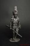 Карабинер легкой пехоты Итальянского королевства, 1806-1808 - Не крашенный оловянный солдатик. Высота 54 мм