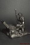 Пират с сундуком - Не крашенный оловянный солдатик. Высота 54 мм