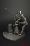 Расчет зенитного орудия - Оловянный солдатик. Чернение. Высота солдатика 54 мм
