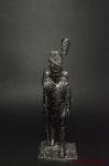 Рядовой п. Голландских гренадер Сред имп гвардии Франция 1812 - Оловянный солдатик. Чернение. Высота солдатика 54 мм