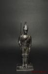 Унтер-офицер гвардейского кирасирского п. Россия 1812 - Оловянный солдатик. Чернение. Высота солдатика 54 мм