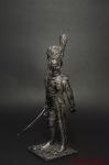 Обер-офицер п. Пеших гренадер Стар Имп гвардии Франция 1812 - Оловянный солдатик. Чернение. Высота солдатика 54 мм