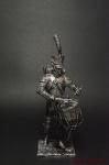 Ротный барабанщик гренадер п. линейной пехоты Франция 1812 - Оловянный солдатик. Чернение. Высота солдатика 54 мм