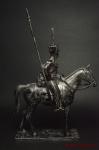 Рядовой Лейб-гвардии Казачьего полка Россия 1812 - Оловянный солдатик. Чернение. Высота солдатика 54 мм