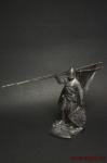 Крестоносцы. Госпитальер после боя 13 век - Оловянный солдатик. Чернение. Высота солдатика 54 мм