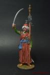 Мамелюк с бунчуком. Франция, 1806-14 - Оловянный солдатик коллекционная роспись 54 мм. Все оловянные солдатики расписываются мастером в ручную