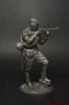Автоматчик пехоты Красной Армии, 1943-45 гг. СССР - Оловянный солдатик. Чернение. Высота солдатика 54 мм