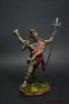 Индийский бог Шива - Оловянный солдатик коллекционная роспись 54 мм. Все оловянные солдатики расписываются художником вручную