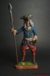 Шведский офицер армейских пехотных полков, 1700-21 гг. - Оловянный солдатик коллекционная роспись 54 мм. Все оловянные солдатики расписываются художником вручную