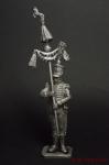 Музыкант-бунчуконосец 7-го африк плк неаполит. линейной пехоты - Оловянный солдатик. Чернение. Высота солдатика 54 мм