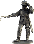 Артиллерист. Зап. Европа, конец 15 века - Оловянный солдатик. Чернение. Высота солдатика 54 мм