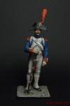 Тамбурмажор линейного полка Франция - Оловянный солдатик коллекционная роспись 54 мм. Все оловянные солдатики расписываются художником вручную