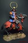 Дайме, Конный Японский Военачальник, период Адзучти-Момояма, 156 - Оловянный солдатик коллекционная роспись 90 мм. Все оловянные солдатики расписываются художником вручную