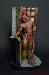 Воин ирокезов у окна 75 мм - Оловянный солдатик коллекционная роспись 75 мм. Все оловянные солдатики расписываются художником вручную