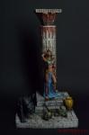 Египетская девушка у обелиска - Оловянный солдатик коллекционная роспись 54 мм. Все оловянные солдатики расписываются художником вручную