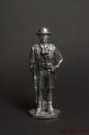 Английский офицер 8-ой Британской армии,Африка ,1941-42 гг,с авт - Оловянный солдатик. Чернение. Высота солдатика 54 мм
