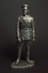 Младший лейтенант ГБ в неуставной кожанной куртке,1937-40 90мм - Оловянный солдатик. Чернение. Высота солдатика 90 мм