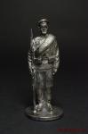 Рядовой русской армии в походной форме - Оловянный солдатик. Чернение. Высота солдатика 54 мм