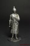 Старший офицер германской армии - Оловянный солдатик. Чернение. Высота солдатика 54 мм