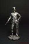 Подпоручик русской армии - Оловянный солдатик. Чернение. Высота солдатика 54 мм
