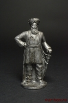 Султан Сулейман Великолепный 1530 - Оловянный солдатик. Чернение. Высота солдатика 54 мм