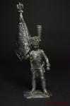 Орлоносец гренадеров Пешей гвардии. Франция 1812 - Оловянный солдатик. Чернение. Высота солдатика 54 мм