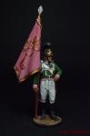 Знаменосец 4-го пех. Плк. фон Франкемона. Вюртемберг, 1811-12 - Оловянный солдатик коллекционная роспись 54 мм. Все оловянные солдатики расписываются художником вручную
