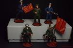Набор оловянных солдатиков Вторая мировая - Набор оловянных солдатиков 5 шт. Высота солдатиков 54 мм.