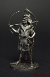 Римский Корницен, I в.н.э. - Оловянный солдатик. Чернение. Высота солдатика 54 мм