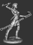 Миры Фэнтези: Ирокезская женщина-воин - Оловянный солдатик, белый металл (набор для сборки). Размер 54 мм (1:30)
