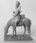 Сапер французских драгун - Оловянный солдатик, белый металл (набор для сборки). Размер 54 мм (1:30)