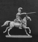 Саксонский кирасир 1812 - Оловянный солдатик, белый металл (набор для сборки). Размер 54 мм (1:30)