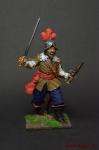 Офицер английской пехоты, середина 17 века - Оловянный солдатик коллекционная роспись 54 мм. Все оловянные солдатики расписываются художником вручную