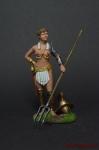 Женщина-гладиатор - Оловянный солдатик коллекционная роспись 54 мм. Все оловянные солдатики расписываются художником вручную