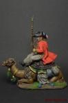 Рядовой полка дромадеров с верблюдом 1801 год - Оловянный солдатик коллекционная роспись 54 мм. Все оловянные солдатики расписываются художником вручную