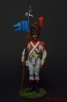 Старший сержант- 2-й орлоносец 7-го лёгкого полка. Франция 1809 - Оловянный солдатик коллекционная роспись 54 мм. Все оловянные солдатики расписываются художником вручную