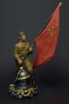 Знамя Победы. 1945 - Оловянный солдатик коллекционная роспись 54 мм. Все оловянные солдатики расписываются художником вручную