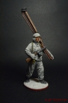 Автоматчик лыжных батальонов Красной Армии 1941-44 СССР - Оловянный солдатик коллекционная роспись 54 мм. Все оловянные солдатики расписываются художником вручную