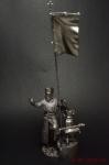 Крестоносцы. Епископ-воин 13 век - Оловянный солдатик. Чернение. Высота солдатика 54 мм