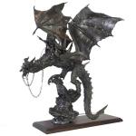 Наездник на драконе - Масштаб 54 мм  Высота - 26 см, вес - 2,65 кг