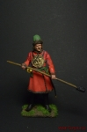 Артиллерист новоприборных полков 1700 год - Оловянный солдатик коллекционная роспись 54 мм. Все оловянные солдатики расписываются художником вручную